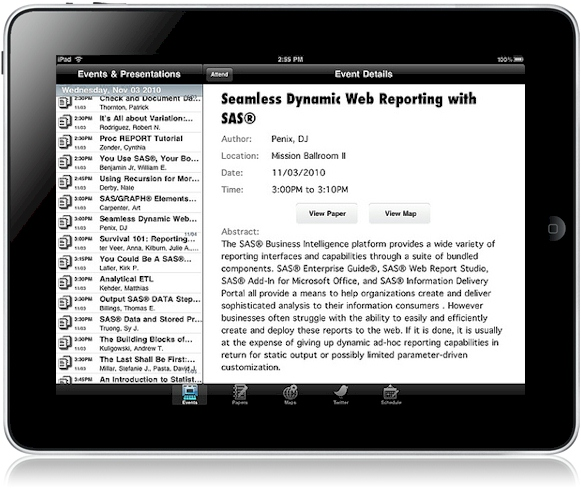 iPad Conference App™ - Screens